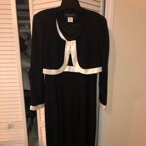 Semi formal black dress with jacket